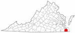 State map highlighting City of Chesapeake