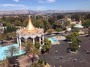 Aerial view of Great America