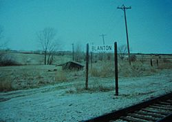 Blanton railroad stop in the mid-1990s