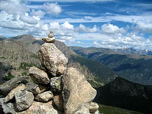 Cairn on Flattop Mountain
