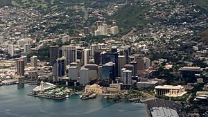 Downtown Honolulu Aerial