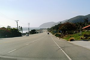 Pacific Coast Highway in Solromar