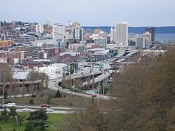 Tacoma skyline and I-705 from the East 34th Street Bridge.jpg