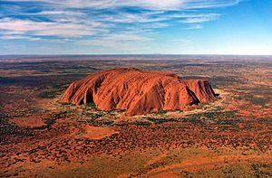 Uluru, helicopter view, cropped
