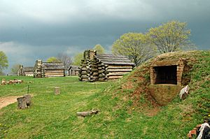 Valley Forge oven and cabins
