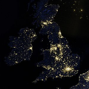 British Isles at night by VIIRS (cropped)