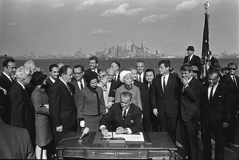 Immigration Bill Signing - A1421-33a - 10-03-1965
