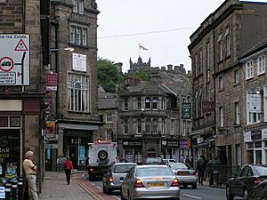 King Street, Lancaster, with the castle in the background - geograph.org.uk - 945333