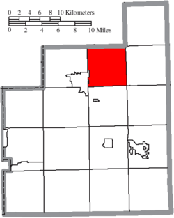 Location of Hambden Township in Geauga County