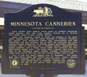 Minnesota canneries historical marker