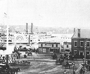 New London old station and Parade 1883