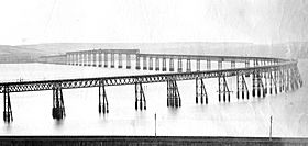 Original Tay Bridge before the 1879 collapse
