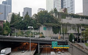 Washington State Convention and Trade Center over I-5 (cropped)
