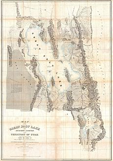 1852 Stansbury Map of Utah and the Great Salt Lake - Geographicus - GreatSaltLake2-stansbury-1852