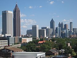 Part of the Downtown Atlanta skyline