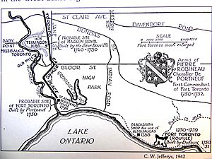 Charles W. Jefferys's map of lower Humber Toronto