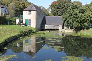 Claverton Pumping Station with millpond