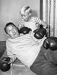 Gale Gordon Jay North Dennis the Menace boxing 1962