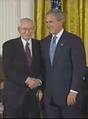 Gordon B. Hinckley and George W. Bush
