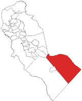 Waterford highlighted in Camden County. Inset: Location of Camden County highlighted in the State of New Jersey.