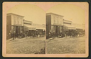 Market. Cor. Main & Mill Sts., (...) Silver Cliff, Colo, from Robert N. Dennis collection of stereoscopic views