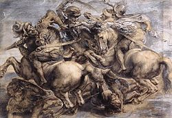 After leonardo da vinci, The Battle of Anghiari by Rubens, Louvre