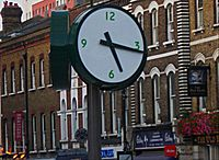 Clock by Sutton station, SUTTON, Surrey, Greater London