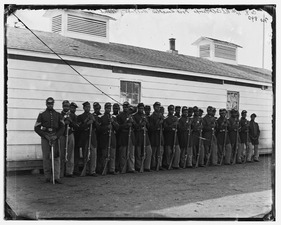 District of Columbia. Company E, 4th U.S. Colored Infantry, at Fort Lincoln LOC cwpb.04294