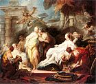 Jean-Honoré Fragonard - Psyche Showing Her Sisters Her Gifts from Cupid - WGA8050