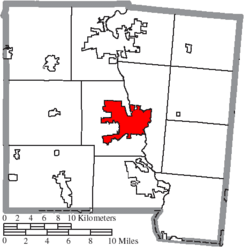 Location of Troy in Miami County