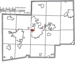 Location of Meyers Lake in Stark County