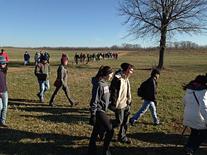 Monmouth Battlefield State Park First Day Hike 2015 open fields turn
