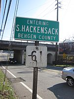 Entering South Hackensack