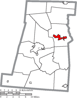 Location of West Jefferson in Madison County