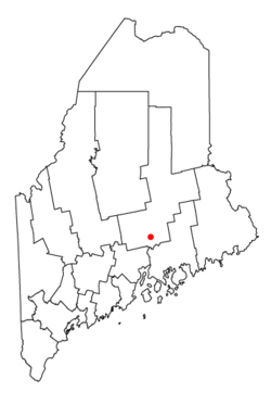 Location in Penobscot County, Maine
