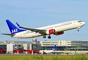 SAS Scandinavian Airlines Boeing 737-800 (LN-RRJ) taking off from Stockholm - Arlanda Airport