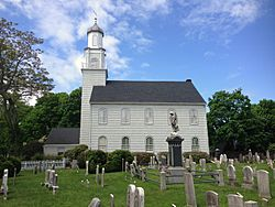 The Setauket Presbyterian Church and Burial Ground, with the graveyard dating to the 1660s and the structure to 1812