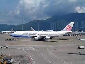 China Airlines 747-400 at HKG