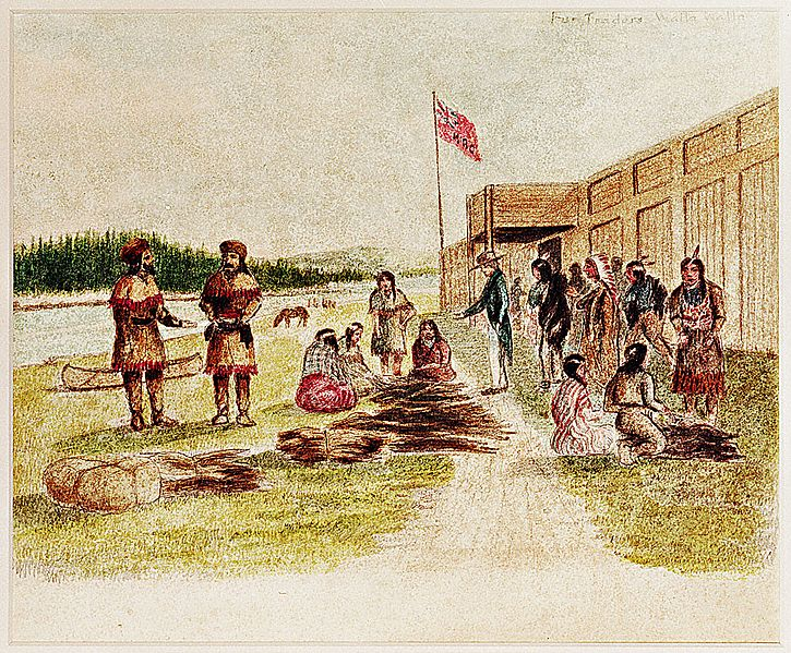Fort Nez Perces Trading 1841