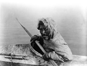 Inuit man by Curtis - Noatak AK