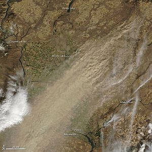 Large dust storm in parts of eastern Washington on October 4, 2009