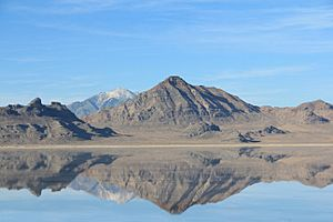 Winter at Bonneville Salt Flats