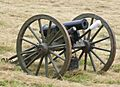 American Civil War era 12 lb howitzer cannon used in the battle of Corydon reenactment