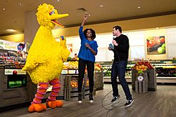 Big Bird, Billy Eichner, and Michelle Obama (20716594940)