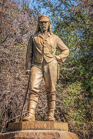 David Livingstone memorial at Victoria Falls, Zimbabwe
