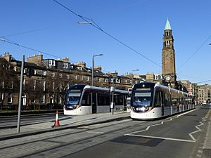 Edinburgh trams, Shandwick Place