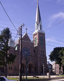 Saint Dominic Roman Catholic Church, on Frankford Avenue, was established in 1849