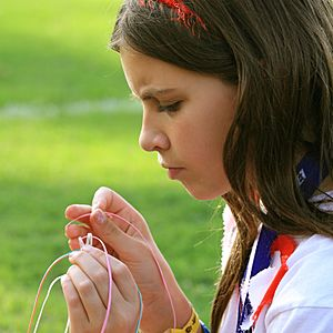 Scout Girl in Concentration