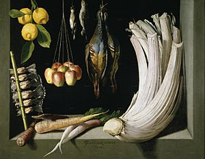 Still Life with Game Fowl,Vegetables and Fruits, Prado, Museum,Madrid,1602,HernaniCollection