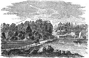 The Old Floating Bridge Across the Schuylkill drawing